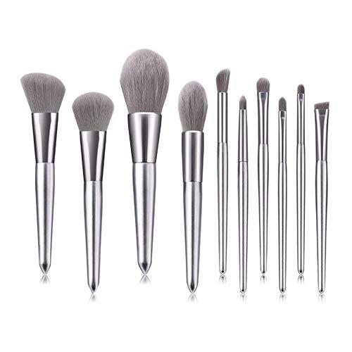 ZHAOXINPA Pinceaux de Maquillage Professionnel 10 Pièces Premium Synthetic Foundation Brush Blending Face Powder Blush Correcteurs Cosmétiques pour Yeux