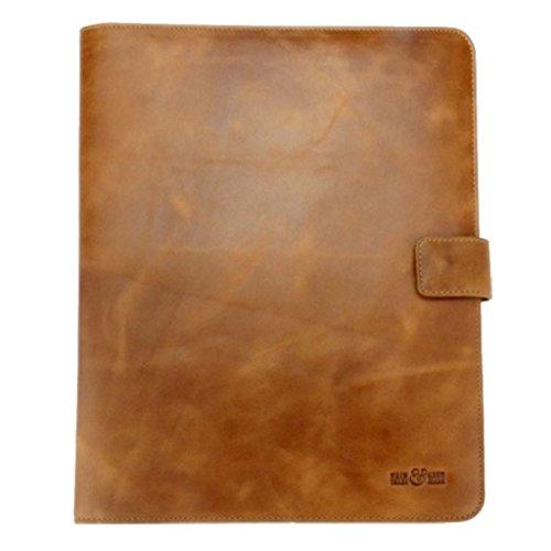 schreibmappe/akten carpeta/carpeta documentos Vintage–Piel Marrón–Comercio Justo