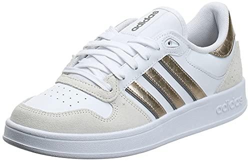 adidas BREAKNET Plus, Zapatillas de Tenis Mujer, FTWBLA/METCHA/Gritre, 37 1/3 EU