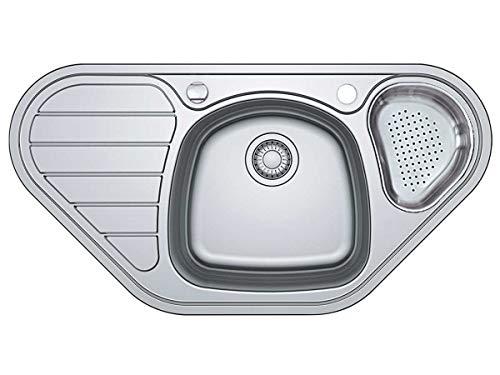 Franke Spark SKX 651-E Edelstahl gebürstet Eckspüle Küchenspüle Einbauspüle Auflage Drehknopfventil