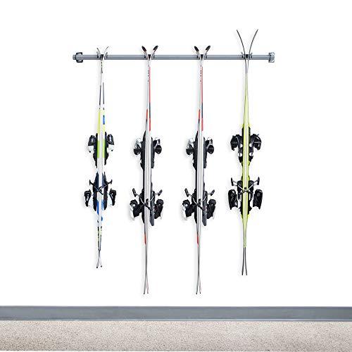Monkey Bars Storage Wall Mounted Ski Racks (4-Pair)