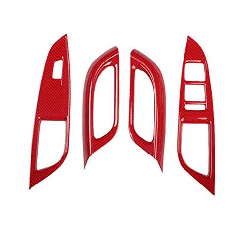 FZHENG Ajuste para Chevrolet Cruze Ventilador de Fibra de Carbono Panel de elevación Interruptor de Interruptor de Cubierta (Color Name : Red)