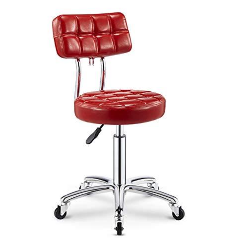 SXFYWYM Hydraulische kappersstoel in hoogte verstelbare kruk met wielen rugleuning massage draaistoel voor comfort