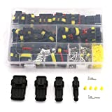 UTSAUTO 274Pcs Waterproof Car Motorcycle Auto Electrical Wire Connector Plug Kit Terminal Assortment 1 2 3 4 Pin Way