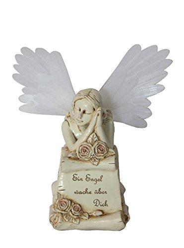 Grableuchte Solarleuchte Engel der Verträumtheit Grab-Beleuchtung Deko Garten, ca. 17x16x20,5 cm