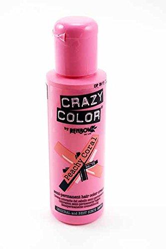 Crazy Color Tinte Capilar Semi-Permanente 100ml (Coral Melocotón)
