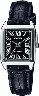 Casio Womens Quartz Dress Watch, Analog and Leather- LTP-V007L-1BUDF, Black