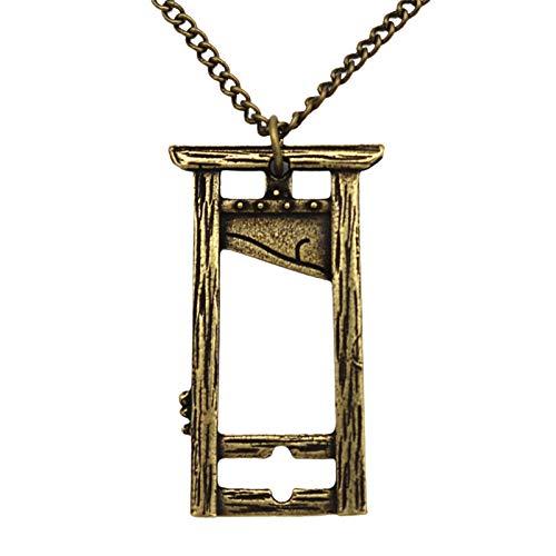 Halskette, Guillotine-Halskette, Gothic-Stil, Pnoto-Rahmen, Schmuck, Geschenk, Anhänger, Zubehör – Bronze