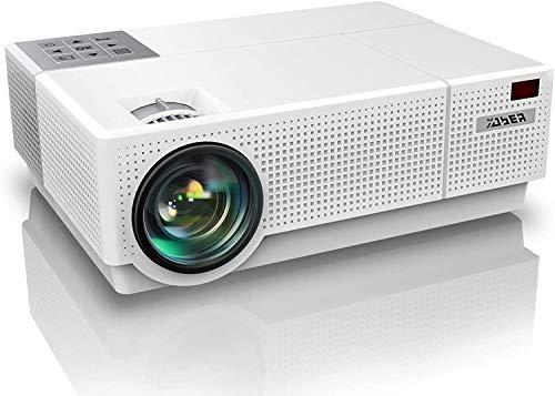 YABER Proiettore, 7200 Lumen Videoproiettore 1080P Nativa (1920x1080) ±50° Trapezoidale Correzione Led Full Hd 350