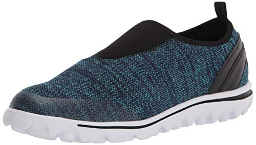 PropÃt womens Travelactiv Slip-on Sneaker, Blue Heather, 11 Wide US