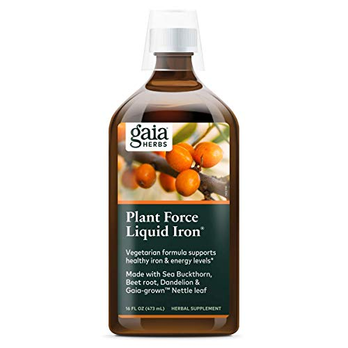 Gaia Herbs PlantForce Liquid Iron Supplement