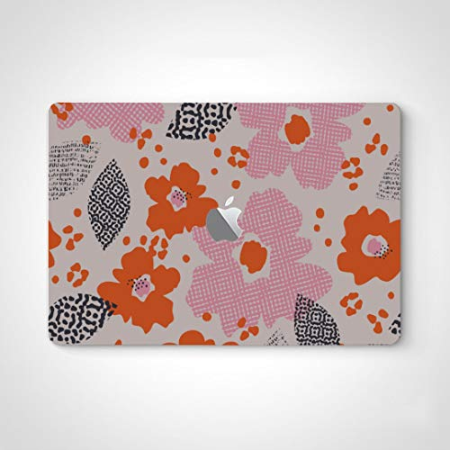 Mac Laptop Skin Sticker Abstract Flowers Cartoon Art Decal Stickers For Notebooks For Macbook Air 13' Pro 13'/15'/16' 2008-2020 Version Laptop Keyboard Decal Sticker
