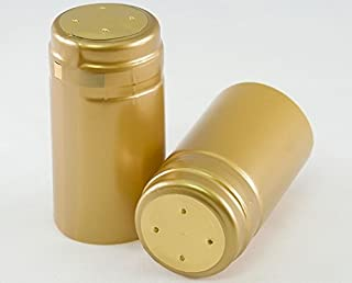 Shrink Caps for Wine Bottles - Matte Gold Pack of 50