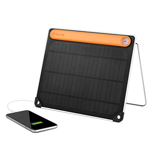 BioLite SolarPanel 5+ with Integrated Power Bank, 5 watts, 2200mAh