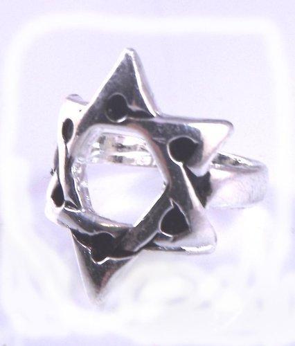 Ster van David Magen Judaica zilveren ring - stuur een bericht met de vereiste grootte