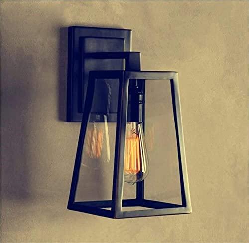 Candeeiro de parede de vidro rústico moderno adequado para candeeiro de parede de corredor de quarto impermeável retro industrial criativo restaurante varanda cama de escada candeeiro de parede exteri