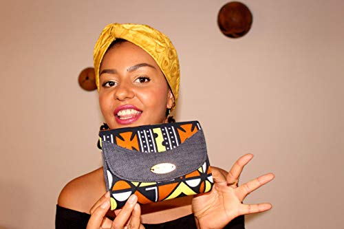 Pochette Elegante/Clutch Donna Cerimonia Borsetta portatutto da Sera/Strass Borsa a Tracolla per Matrimonio Festa/Artigianale in tessuto africano