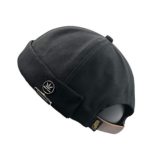 YAMEE Docker-Cap Docker Mütze Seemannsmütze Hafenmütze Herrenmütze Bikercap Hat Wandermütze Dockercap Kopfbedeckung Seemannskappe(Kopfumfang Größenverstellbar