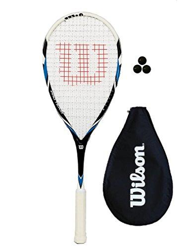 Wilson Pro Team Squashschläger (1 oder 2 Schlägeroptionen), blau, 1 x Racket + 3 Squash Balls