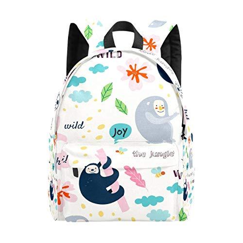 Backpack Boy Girl Daypack,Animals Words Pattern Kids Backpack School Bookbag Travel Bag Casual Rucksack Gift