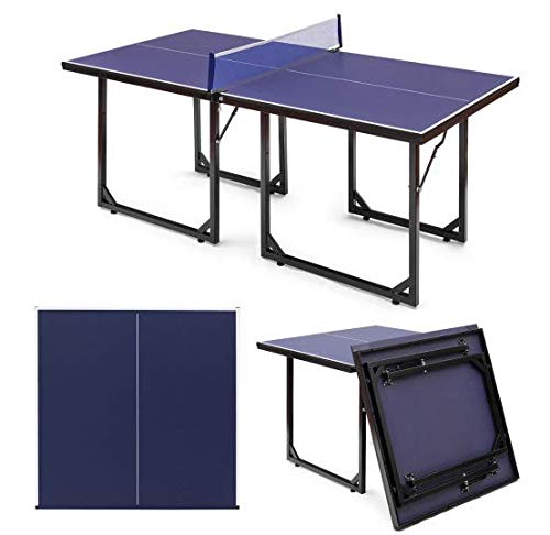 Sale!! Sunil Ping Pong Table Foldable Removable Net Table Tennis Table with Locking Casters