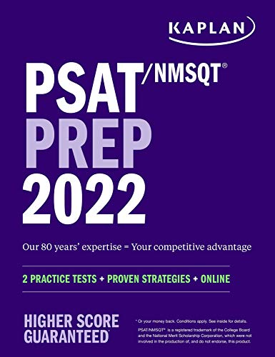 PSAT/NMSQT Prep 2022: 2 Practice Tests + Proven Strategies + Online (Kaplan Test Prep)