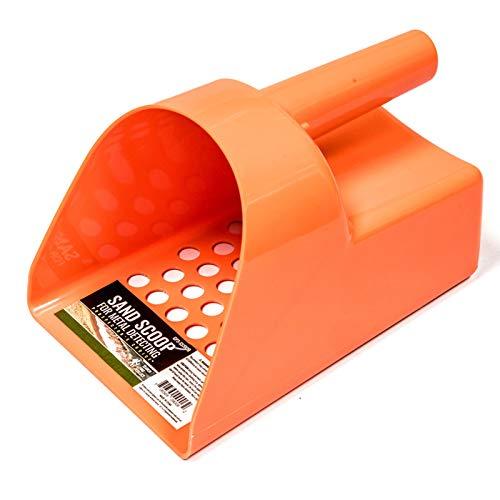 ASR Outdoor Metal Detector 8.5 Inch Heavy Duty Plastic Orange Sand Scoop for Metal Detecting