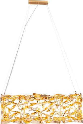 Kare Design - Lampadario a sospensione Streamers Quadrato gold