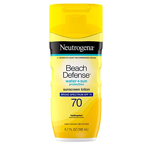 Neutrogena Beach Defense Water Resistant Sunscreen Body Lotion with Broad Spectrum SPF 70 OilFree and FastAbsorbing 67 oz