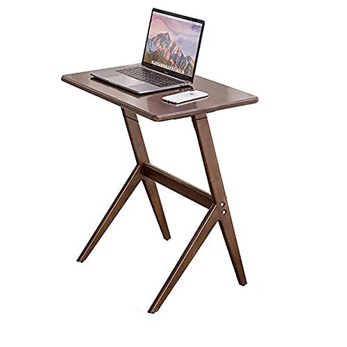 SPZDZ Escritorio pequeño tamaño Escritorio de computadora/de la Cama sofá Oficina Cuaderno Mesa de Estudio/Mesa de Escritura de Madera Maciza móvil