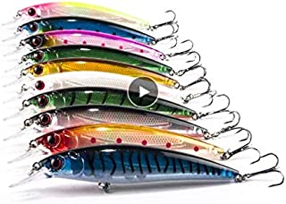 8PCS 11cm 13.5g Fishing Lures Classic Style Minnow Fishing Bait Fishing Tackle Fishing Lure Set