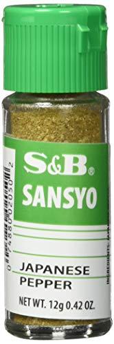 S&B Japanischer Pfeffer (Sansho) – Gemahlener Pfeffer mit zitronigem Aroma – Ideal für japanische Gerichte – 1 x 12 g
