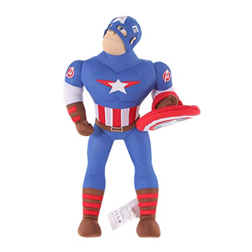 MINISO Marvel Plush Figure Captain America Cartoon Doll Soft Stuffed Toy Gift for Boy Girl Kids 13.8' Tall