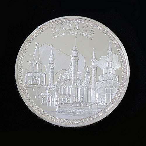 Yoin 1 STÜCK Silbermünzen KUL Sharif Moschee Kazan Souvenir Münzen Islam Münze Kunst Weißrussland Metallhandwerk Münzen