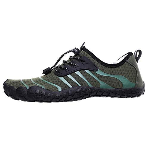 GGPUS Unisex sneakers, outdoor wattenschoenen, heren en vrouwen vijf-vinger strand zwemschoenen, paddle schoenen, groen, 39/40