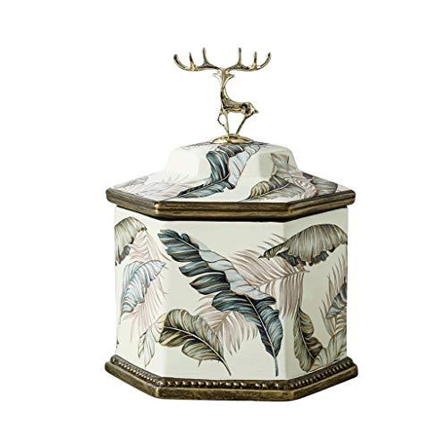 Box di Gioielli di Fascia Alta, Organizzatore di Gioielli in Ceramica con Coperchio, per Il Ringraziamento delle Donne, Festa della Mamma, Regali di Compleanno, 23 Cm X 17 Cm