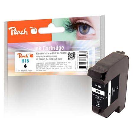 Peach Druckkopf Schwarz Kompatibel Zu Hp No 15 C6615d Bürobedarf Schreibwaren