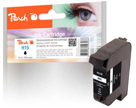 Peach Print-Head Black, Compatible with HP C6615D, No. 15