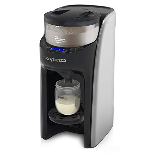 New and Improved Baby Brezza Formula Pro Advanced Formula Dispenser Machine - Automatically Mix a Warm Formula Bottle Instantly - Easily Make Bottle with Automatic Powder Blending, Brushed Silver