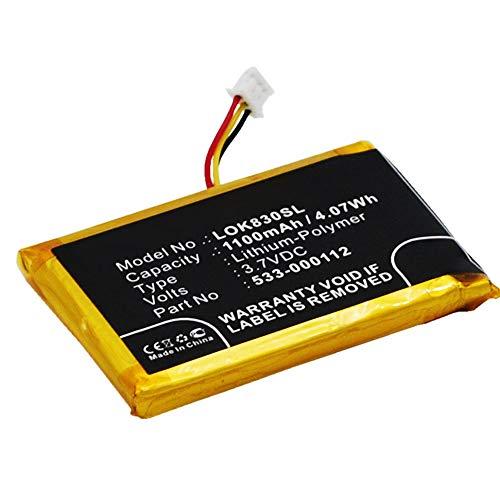 subtel® Qualitäts Akku kompatibel mit Logitech K830 / Illuminated K830, 533-000112 1100mAh Ersatzakku Batterie