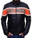 Occasioni Uomo, Donna Giacca Moto Pelle Originale Harley Davidson Victory Lane-l