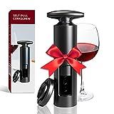 CVOZO Cavatappi Vino,Tagliacapsule, apribottiglie per Vino con tagliacapsule Vino Accessori del Vino Professionale, Miglior Regalo per Gli Amanti del Vino Regalo di Natale - Nero