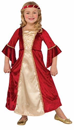 Forum Novelties Girls Scarlet Princess Costume, Red, Medium