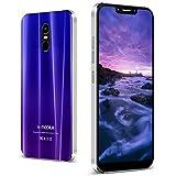 Moviles Libres 4G 3GB RAM 32GB ROM Smartphone Libre 5.6'' Batería 4400mAh Dual SIM Dual Cámara Desbloqueo Facial Desbloqueo por Huella Digital GPS Moviles Buenos (Púrpura)