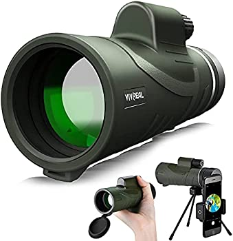 VIVREAL IPX7 Waterproof 12x42 HD Monocular Telescope (Jungle Green)
