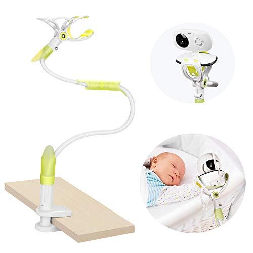 Supporto universale per baby monitor con cinghie flessibile per fotocamera, senza forature, supporto per monitor per bambini (baby monitor non incluso)