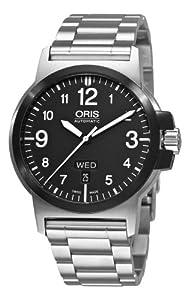 Oris Men's 73576414364MB BC3 Sportsman Day Date Stainless Steel Bracelet Watch image