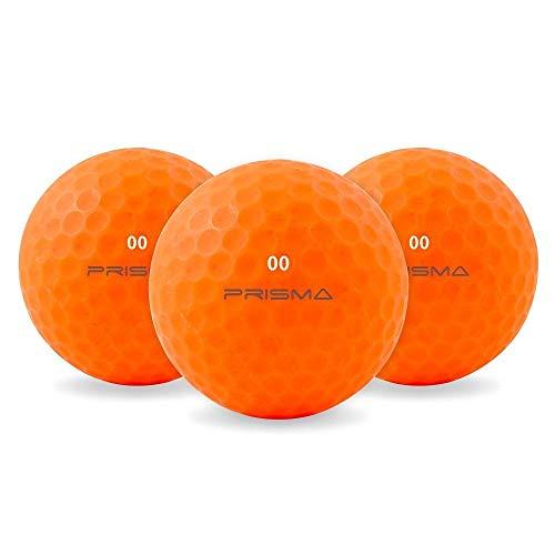 Prisma Fluoro Matt Ti Golfbälle X 1 Dutzend (Orange crush)