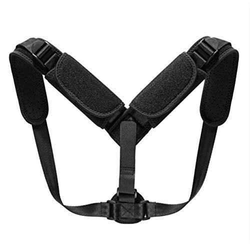 Kurphy - Correa ajustable para la postura, cinturón de postura, cinturón de postura, hebilla de tres botones, transpirable, postura, cinturón postura, color negro