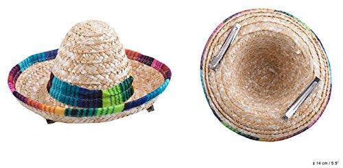 ESPA / FunnyFashion NEU Mini-Hut Sombrero aus Stoh, mit Clips